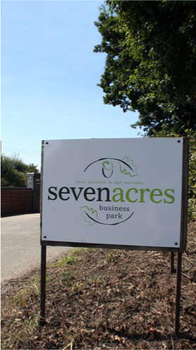 picture of seven acres sign
